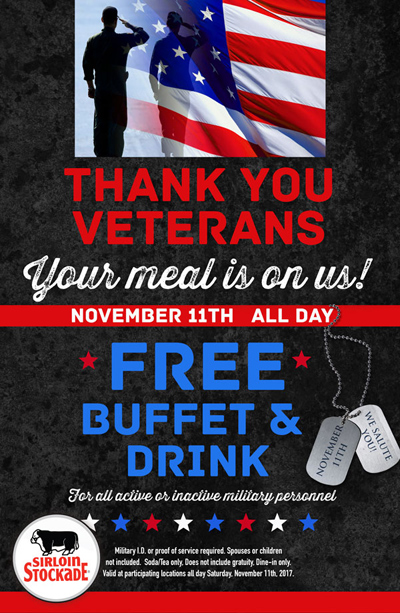 Veterans Day Promotion 2017