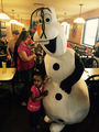 Olaf from Frozen attended a birthday party at Sirloin